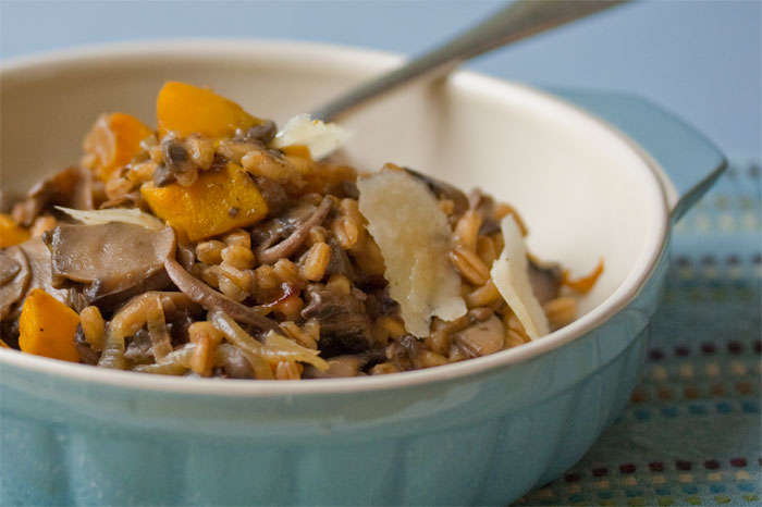 mushroom-farro-butternut-squash