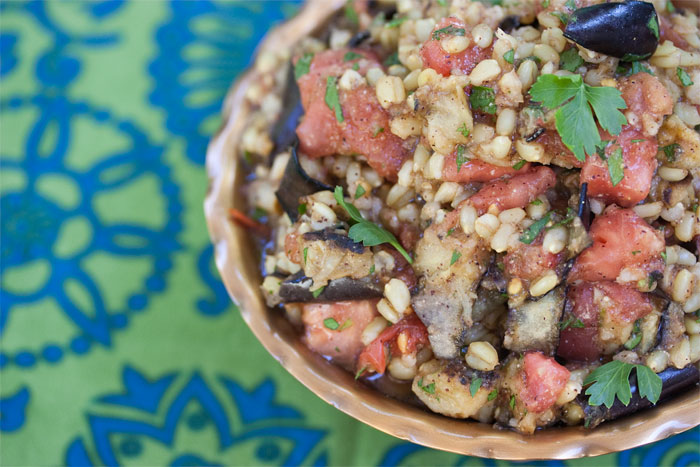 wheatberry-eggplant-salad