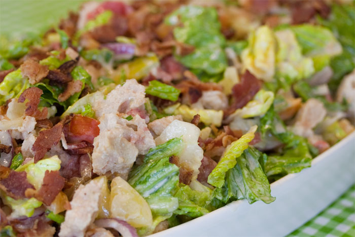 BLT Bread Salad with Creamy Buttermilk Dressing