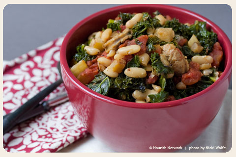 White Bean and Kale Ragout with Turnips and Sausage - NOURISH ...