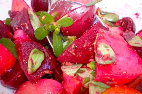 Beet and Purslane Salad