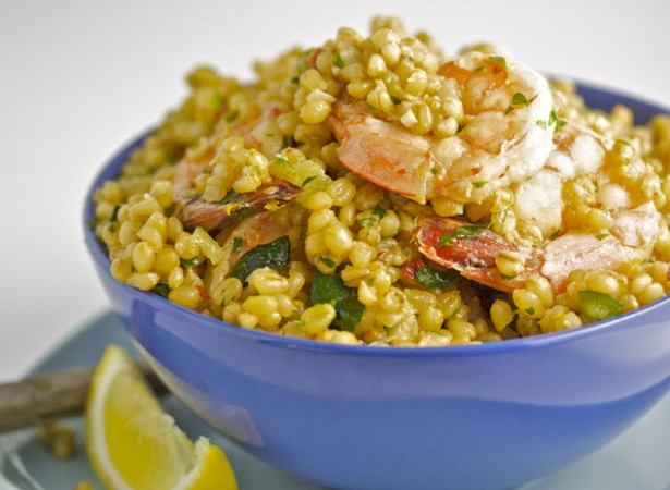 sauteed-wheat-berries-shrimp-zucchini-gremolata