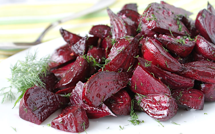 Roasted Beet Wedges with Champagne Vinegar