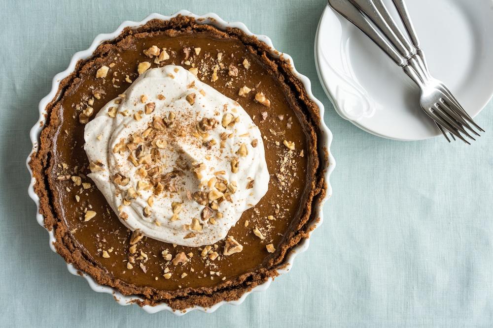 pumpkin-tart-maple-whipped-cream-walnuts