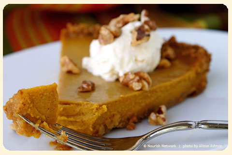 Pumpkin Tart with Maple Whipped Cream and Toasted Walnuts ...