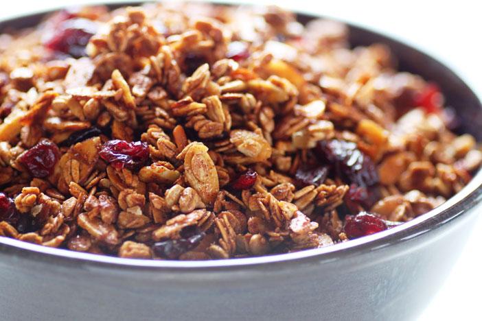 Molasses-Cranberry-Granola