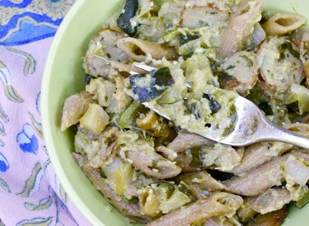 pasta-summer-squash-zucchini-pesto