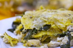 chicken-greens-enchilada-bake