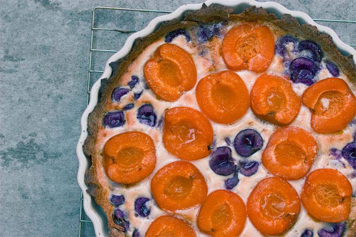 Cherry Apricot Almond Tart