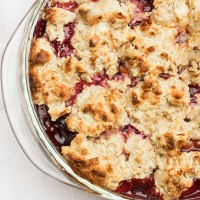 Nectarine Blackberry Cobbler with Coconut-Oat Topping
