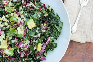 Kale Salad with Toasted Coconut Chips