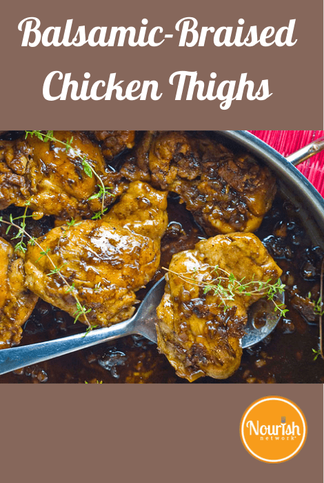 Balsamic Braised Chicken Thighs