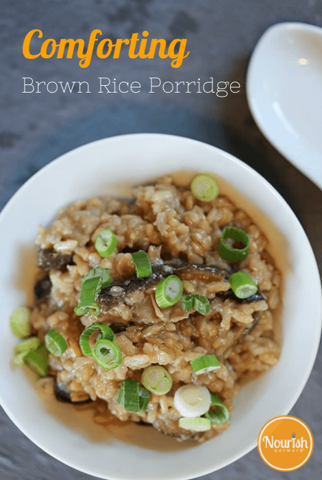 Comforting Brown Rice Porridge with Shiitake Mushrooms