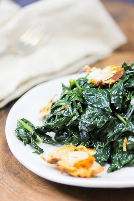 Kale Caesar Salad with Parmesan-Almond Croutons