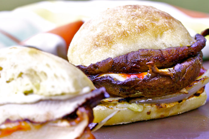 Double Decker Portobello Burgers