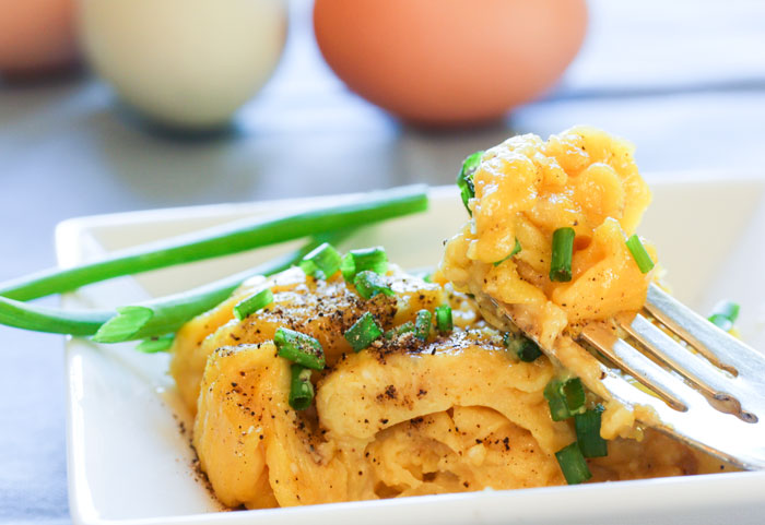 Soft Scrambled Eggs with Chives