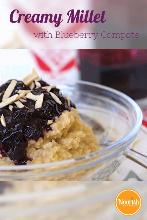 Creamy Millet with Blueberry Compote