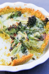 Broccoli Quiche with a Quinoa Crust