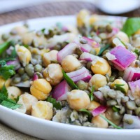Spiced Lentil and Chickpea Salad
