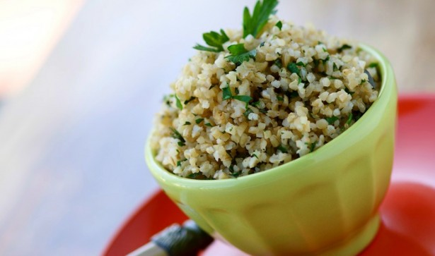 herb-flecked bulgur