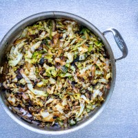 Caramelized Coconut-Lime Cabbage