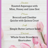 Nourishing Mother's Day Brunch Menu