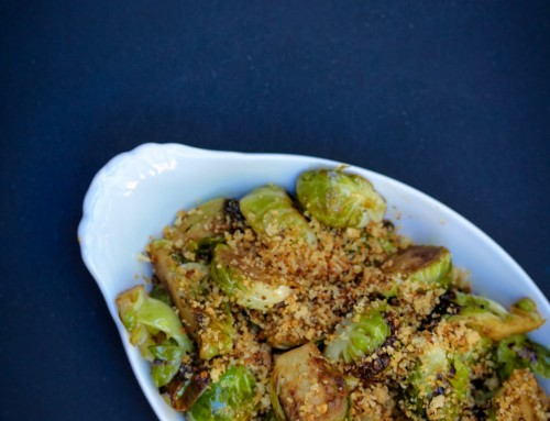 Crispy Mustard-Coated Brussels Sprouts