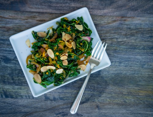 Chard with Orange and Almonds