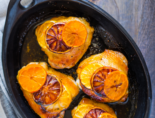 Roasted Chicken Thighs with Citrus