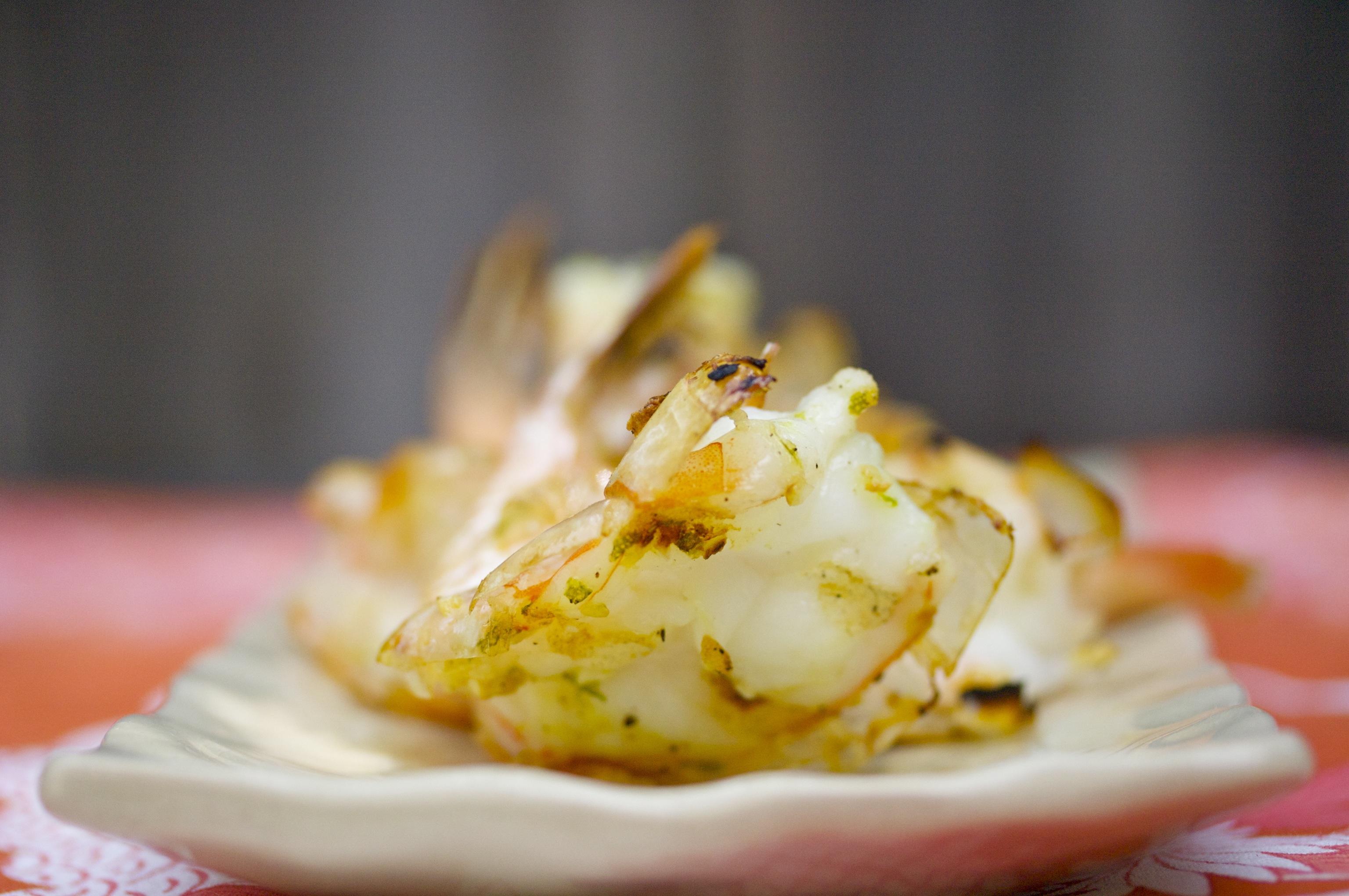 Garlicky Butterflied Grilled Shrimp