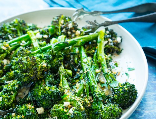 Pan-Roasted Broccolini with Garlicky Breadcrumbs