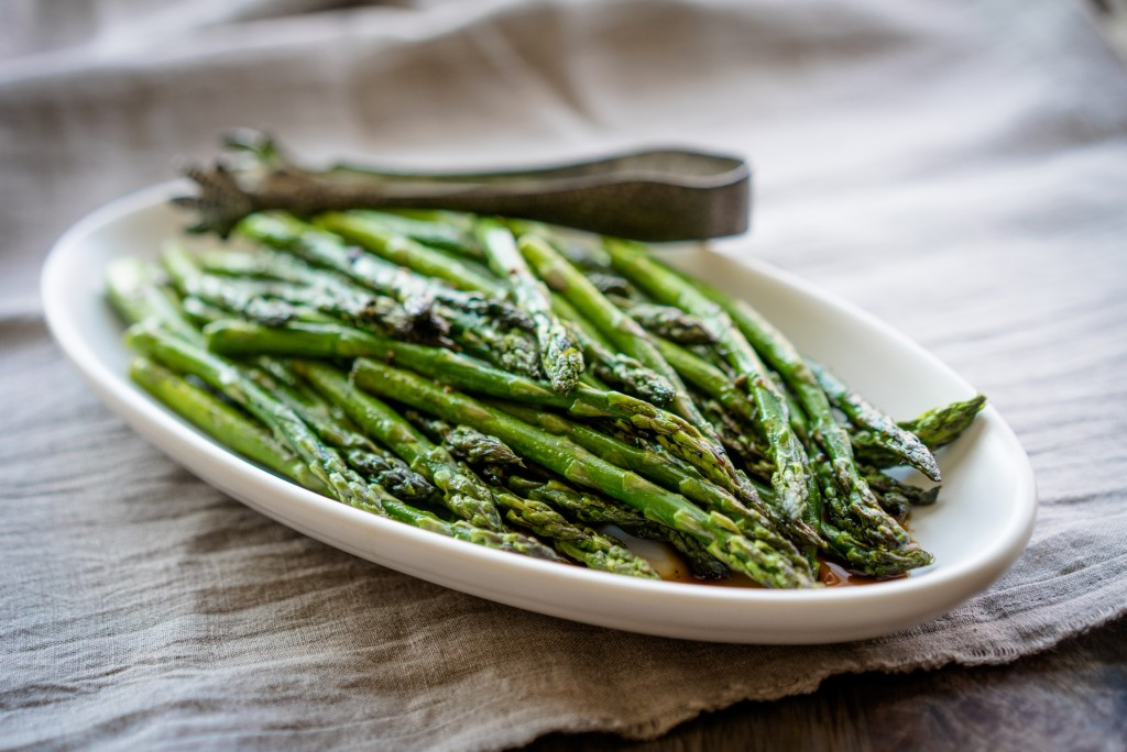 Slow-Cooked Asparagus with Balsamic Reduction