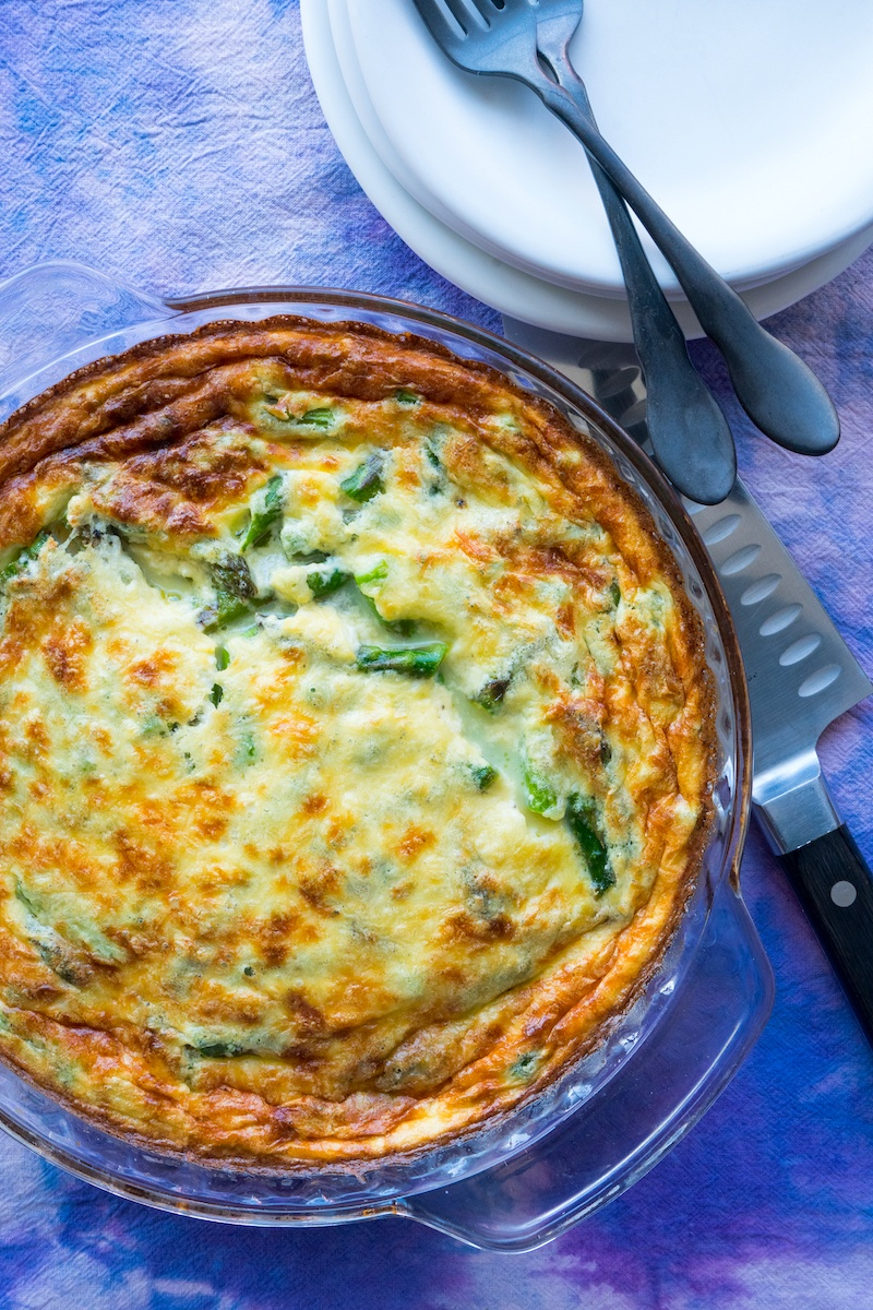 No-Crust Asparagus Quiche
