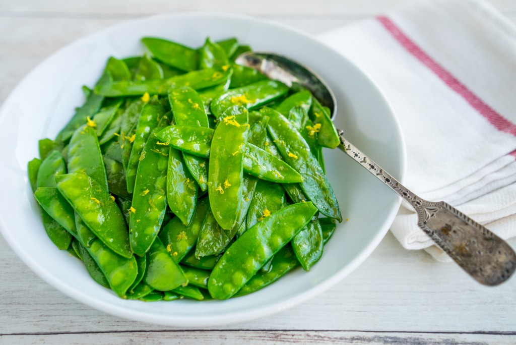 snow-peas-lemon-browned-butter