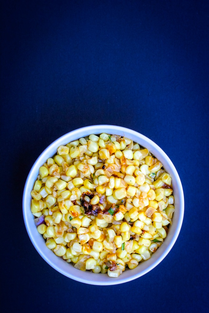 Sauteed Corn with Tarragon and Shallots