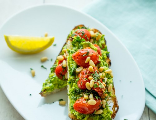 Smashed Avocado & Tomato Toasts