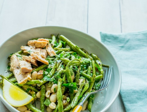 Green Bean and White Bean Salad with Tuna